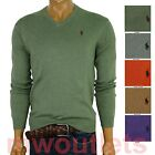 Polo Ralph Lauren MENS V-NECK PIMA COTTON SWEATER Long Sleeve