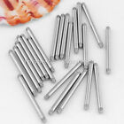 100pc Steel Straight Bar Stud Lip Tongue Ring Replacement Piercing Accessories