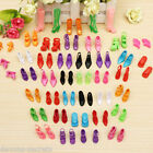 40 PAIRS of bundle  Barbie doll clothes mermaid dress shoes high heels assorted