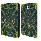 HEAD CASE DESIGNS CELTIC SHAMROCK LEATHER BOOK CASE FOR SAMSUNG GALAXY TABLETS