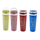 Plastic Water Insulated Thermos Bottle Cup Mug Vacuum Flask 400ml 2pcs