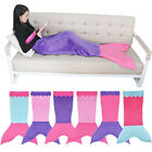 Fashion Mermaid Fleece Tail Blanket Children Sleeping Bag Bed Wrap Costume