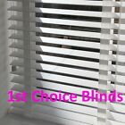 Made to Measure DELUXE BRIGHT PURE WHITE Wooden Venetian Blinds with Tapes