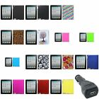 Protector Snap-On Case Hard For Apple New iPad 4/3/2+USB Car Charger Adapter