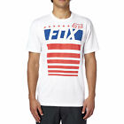 Fox Racing Mens Optic White/Red/Blue Red White and True T-Shirt Tee Shirt