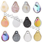 10 Czech Pressed Glass Pip Top Drilled 7mm x 5mm Petal Teardrop Charm Beads