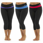 Womens Yoga Exercise 3/4 Pants Trousers Ladies Gym Fitness Sportswear