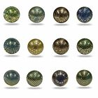 Metal Etch Knob Cupboard Drawer Door Handles Pull Decorated Green Blue Gold