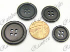 BLACK BUTTONS 16mm to 28mm 4 HOLE BLACK PLASTIC BUTTONS FOUR HOLE BUTTONS