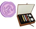 Vintage Zodiac Pisces the Fish Wedding Invitation Wax Seal Stamp Stick Box Set