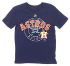 Majestic MLB Houston Astros Youth Real Gem Short Sleeve Tee, Navy