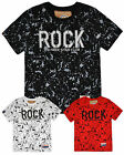 Boys Short Sleeved Printed Rock T-Shirt New Kids Cotton Top 4 6 8 10 12 14 Years