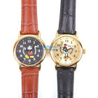 JAPAN DISNEY MICKEY MOUSE VINTAGE GENUINE LEATHER BAND WATCH MC-6K2393L-003