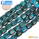 10x12mm Chrysocolla Gemstone Rectangle Beads For Jewelry Making Free Shipping