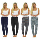 Ladies Full Length Jersey Harem Pants Boho Ali Baba Baggy Leggings Trousers