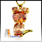 C8 Fashion Ladies Sweater Necklace Jewelry Mouse Shape Hot Pink Yellow Cheap