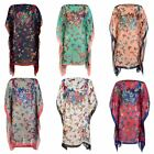 Ladies Butterfly Poncho Womens Summer Silk Blend Beach Cover Up Sarong Free Size