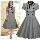 Women's Elegant Vintage 1950s Cocktail Partyl Bussiness Butterfly Knot Dresses