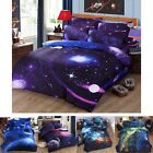 3D Galaxy Bedding Pillowcase Quilt Cover Duvet Cover Set Or Flat 6 Style