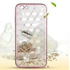 Fashion 3D Bling Diamond Plating Soft TPU Rubber Case Cover For iPhone 6/6S/Plus