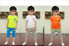2pcs Baby Boy Infant Toddler Kids T-shirt Top+Pants Trousers Clothes Outfits Set