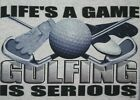 Golf Tshirt: Life's A Game Golfing Is Serious Hole In One Tiger Woods Iron Green