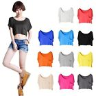 Loose Casual  Women Girls Pockets Basic T-shirt Modal Tank Tops Short Vest