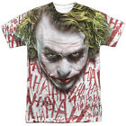 Batman Dark Knight Joker Face Single Sided Sublimation Adult T-shirt