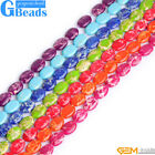 "Sea Sediment Jasper Gemstone Oval Beads For Jewelry Making 15"" Assorted Colors"
