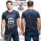 RED TORPEDO GUY MARTIN GLEMSECK ROCK & ROLL MENS CASUAL T SHIRT BLACK
