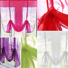 Ready Made Plain Voile Tie Blind – Slot Top Net Curtain Panel – 54 inch Drop