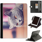 Cat Kitten Luxury Apple ipad 360 swivel i pad leather case cover with card slots