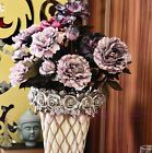 New High Simulation Peony Bouquet Artificial Flowers Leaf Floral Home Decoration
