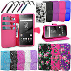 For Sony Xperia M4 Aqua E2303 - Wallet Leather Case Book Cover +Screen Protector