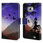 HEAD CASE DREAMSCAPES SILHOUETTES LEATHER BOOK CASE FOR SAMSUNG GALAXY S2 II