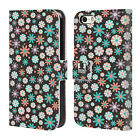 HEAD CASE DESIGNS DITSY FLORAL LEATHER BOOK WALLET CASE FOR APPLE iPHONE 5 5S SE