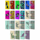 PATTERNED ANIMAL SILHOUETTES LEATHER BOOK WALLET CASE FOR SAMSUNG GALAXY S2 II