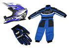 Wulfsport Advance Helmet Overalls Race Suit Gloves Motocross Quad Bike BMX