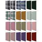 HEAD CASE DESIGNS PLAID LEATHER BOOK WALLET CASE COVER FOR APPLE iPAD AIR