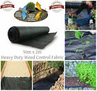 New Heavy Duty Weed Control Woven Fabric Ground Cover Mulch Membrane Mat 100gsm