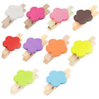 Card Photo Clothes Flower Shape Crafts Spring Pegs Mini Wooden Clip 10pcs