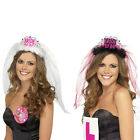 Bride To Be Crown Tiara Veil Bachelorette Girls Night Hen Party Do Fancy Dress J