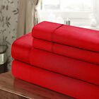 Chic Home 100% Cotton 300T Sheet Set Red Twin, Full, Queen, King