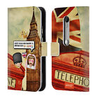 OFFICIAL EMOJI PHOTO GRAPHIC LEATHER BOOK WALLET CASE COVER FOR MOTOROLA PHONES