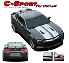 2018 2017 2016 Camaro Pin Outline SS Rally Racing Stripe 3M Vinyl Graphic Decal