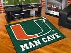 "Miami Hurricanes Man Cave Area Rug 34"" x 43"", 5 ft x 6 ft or 5 ft x 8 ft"