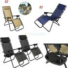 Zero Gravity Chairs Case Of 2 Lounge Patio Chair Outdoor Yard Beach Pool OSHION