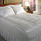 "233 TC Cotton Cover 5"" Down Pillow Top Featherbed White"
