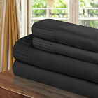Chic Home Pleated Microfiber Sheet Black- Twin, Full, Queen, King