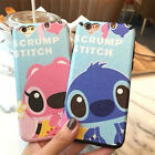 Cute Cartoon Stitch pink Lips leather soft back case cover for iphone 6 6S plus